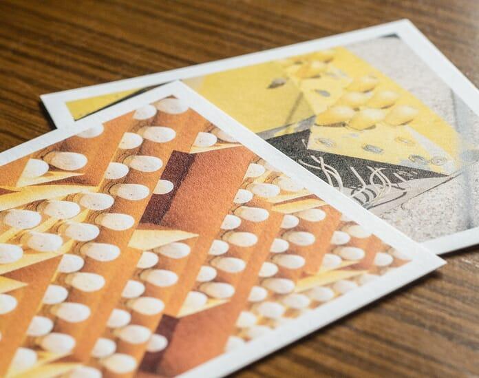 Parabo print close up