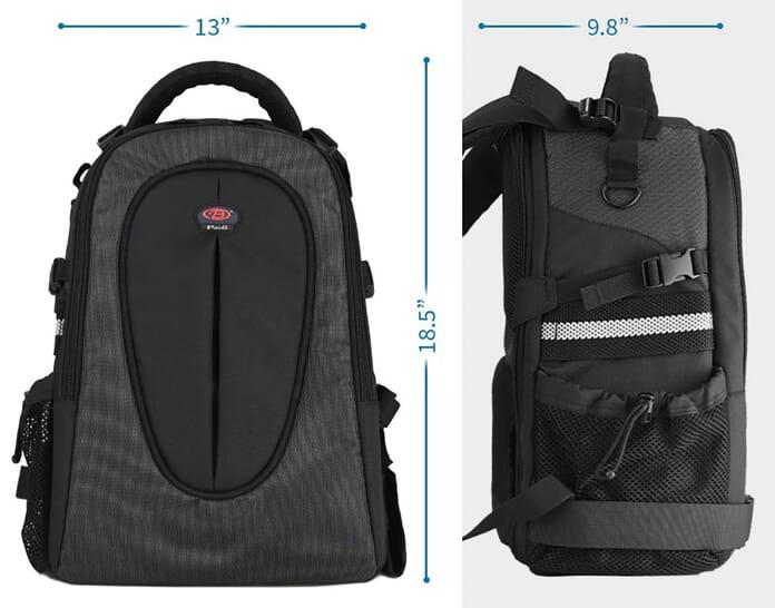 Baoluo anti-theft camera bag measurements