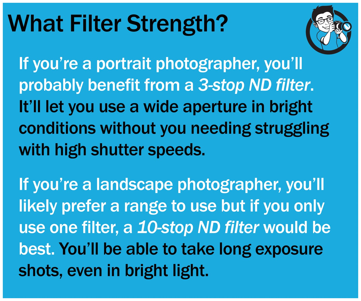 which filter strength should you choose