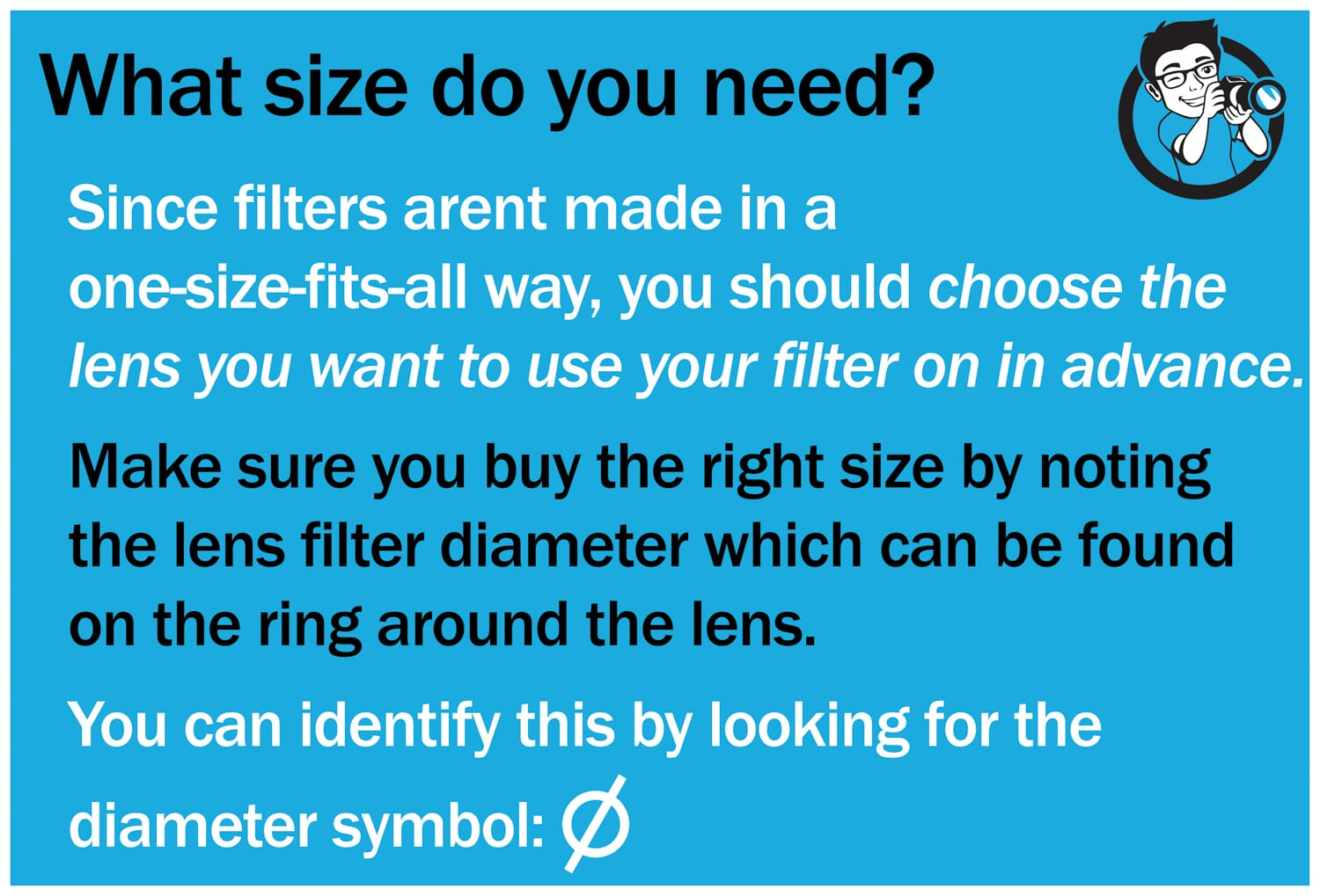 Size of Filter