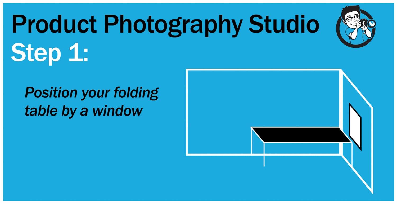 Step 1 Product Photography studio