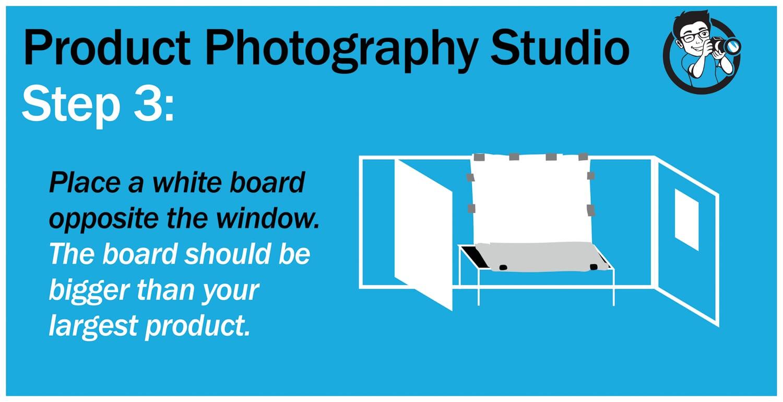 step 3 product photography studio