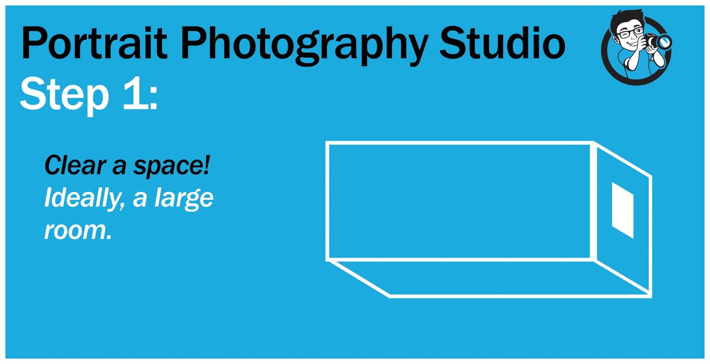 step 1 portrait photography studio.