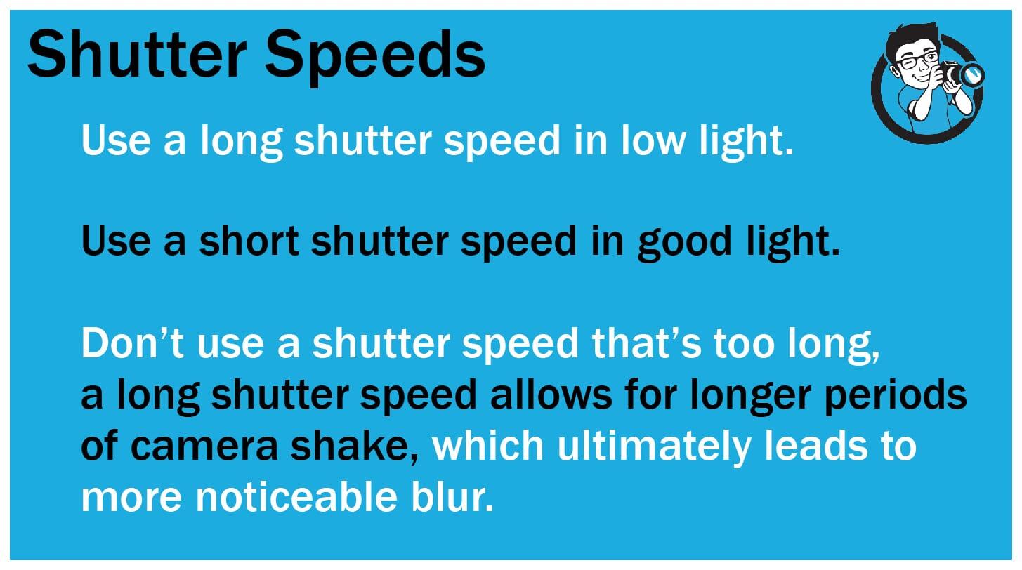 How to shoot sharp portraits Shutter Speeds