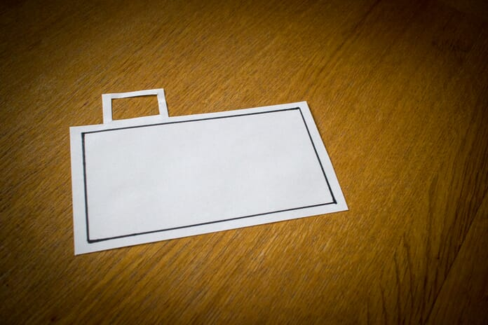 Simple DIY viewfinder created from card - photography lessons for kids