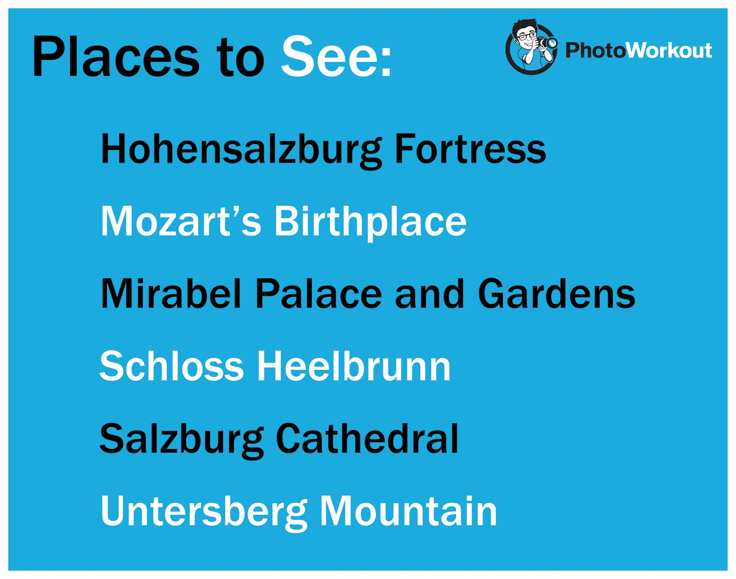 PLaces to see What to Photograph in Salzburg