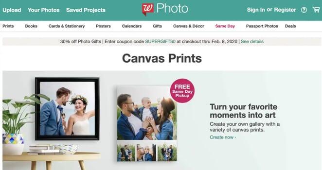 Walgreens Photo Canvas Prints