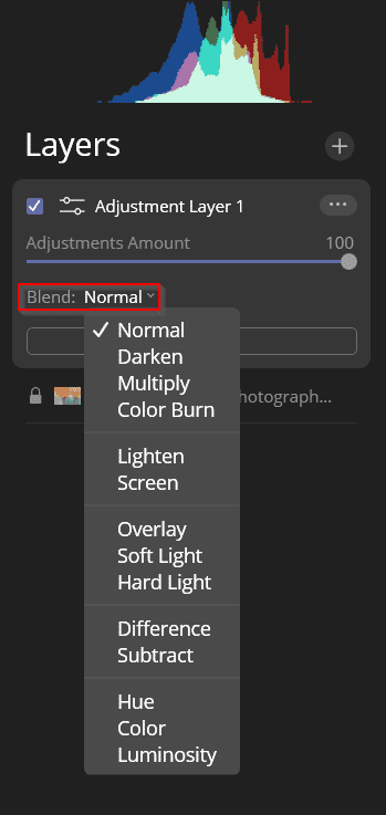 normal blending option