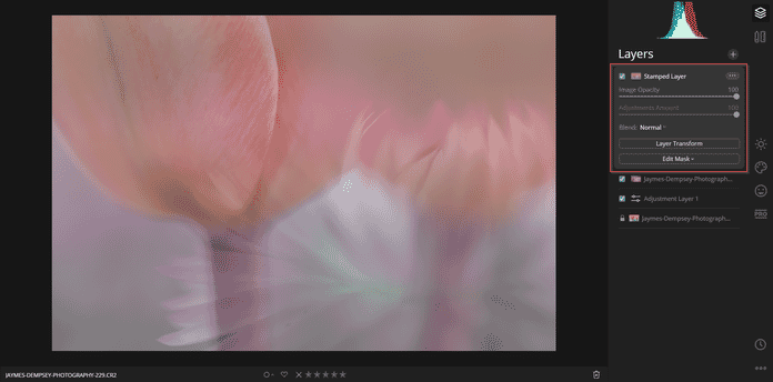 luminar stamped layers