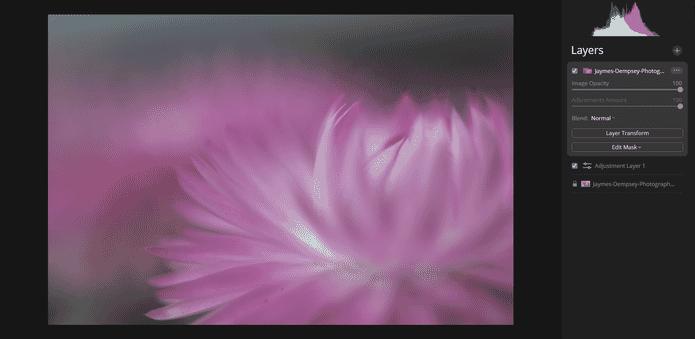 lightest pixels shining through