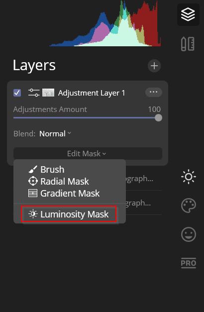 luminosity masking